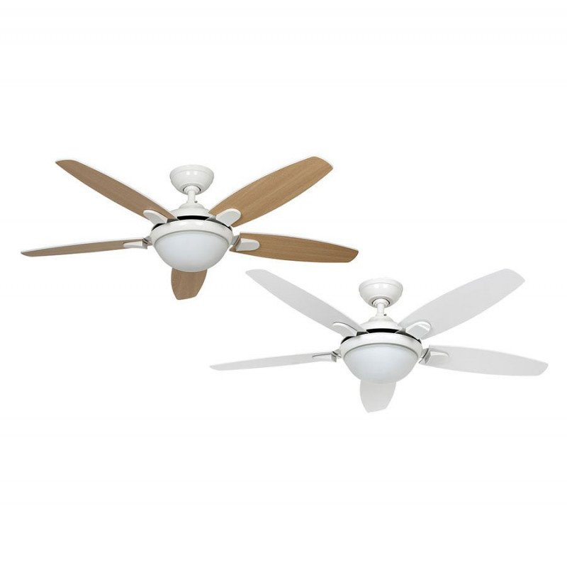 Ceiling Fan With Light Quiet Modern White 132 Cm Hunter Contempo
