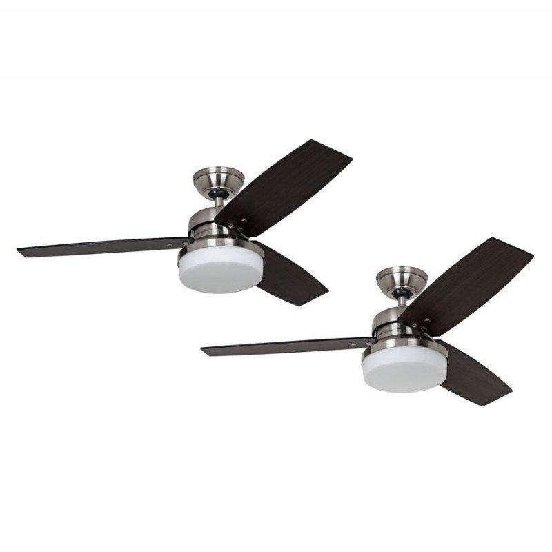 ceiling fan with light Ventilateur de plafond moderne 112 cm acier