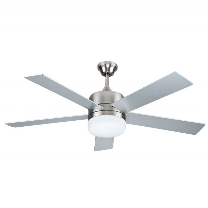 sale modern ceiling fan 132 cm with led lamp remote control reversible gray or