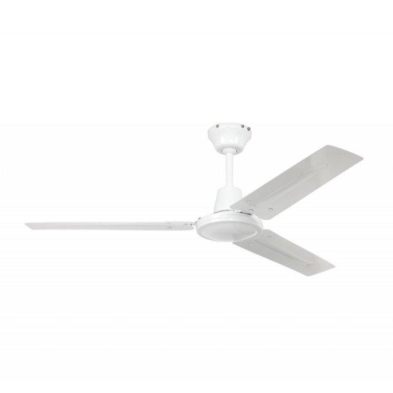 Ventilateur de plafond 120 Cm industriel metallique blanc de casafan.