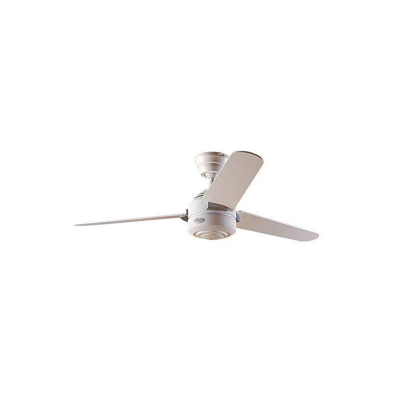 Ventilateur de plafond moderne 132 cm acier blanc hunter Carera