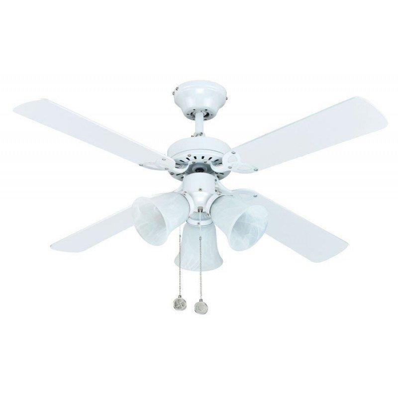 Ventilateur de plafond POUR CHAMBRE 105 Cm pales multicolores et 3 spot orientables