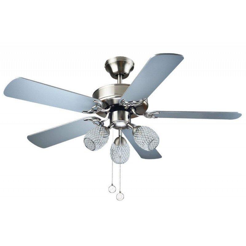 Ventilateur De Plafond  Cm Pour Chambre Vec Pales Blanches  Et