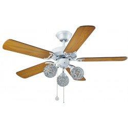 Ventilateur de plafond pour pi ces moyennes quip d 39 un for Ventilateur de plafond pour chambre