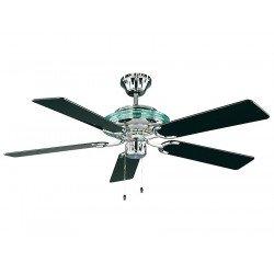 Ventilateur de plafond mercur, classique 132 Cm graphite, pales Vernis graphite ou noir mat, télécommande, CASAFAN