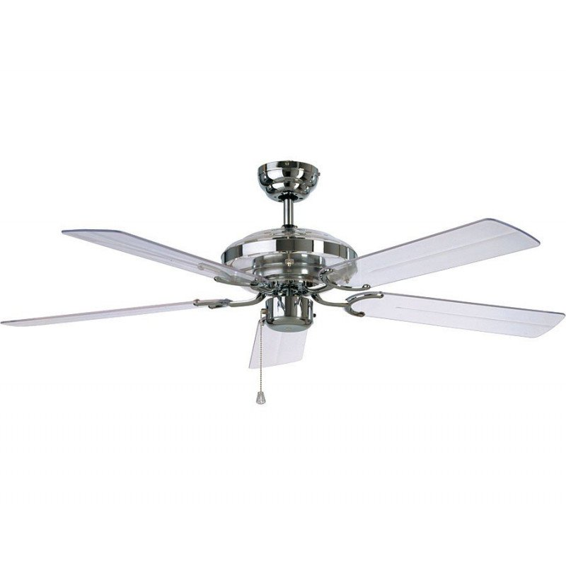 Acrylic fan in classic form with modern materials ceiling fan combining classical and modern style polished chrome and acrylic transparent blades casafan acrylic aloadofball Images