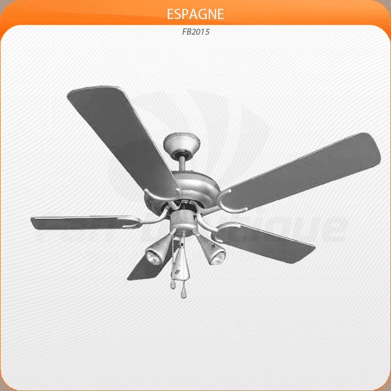 Ceiling Fan 132 cm, 3 powerful spots, gray silver blades.Ceiling Fan 132 cm, 3 powerful spots, gray silver blades.
