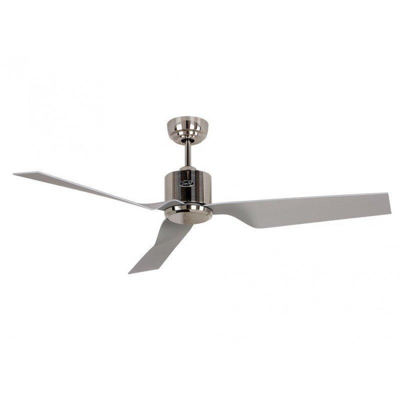 Ceiling Fan Dc 132 Cm Modern Brushed Chrome Remote Control