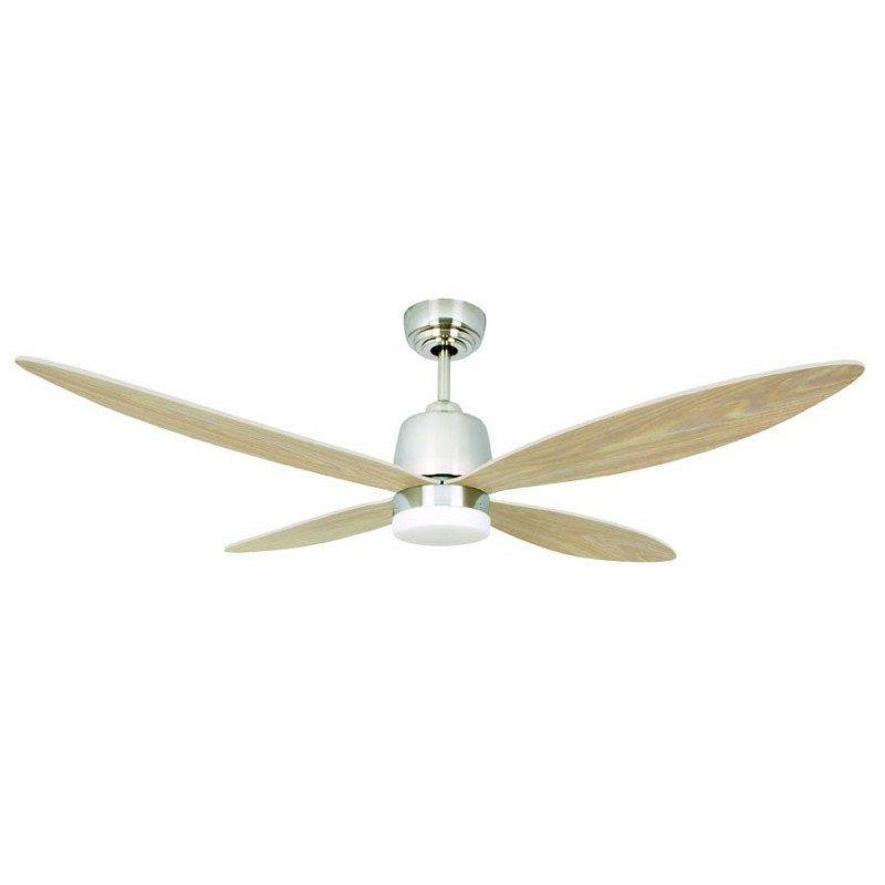 Ventilateur de plafond 132 Cm DC stratus, un ventilateur moderne, un point lumineux LED, et télécommande pales érable.