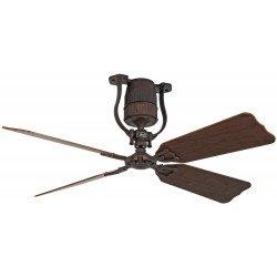 Ceiling Fan, vintage, 135 Cm. bronze, oak and walnut blades, DC motor, remote control, Roadhouse BA A-NCASAFAN