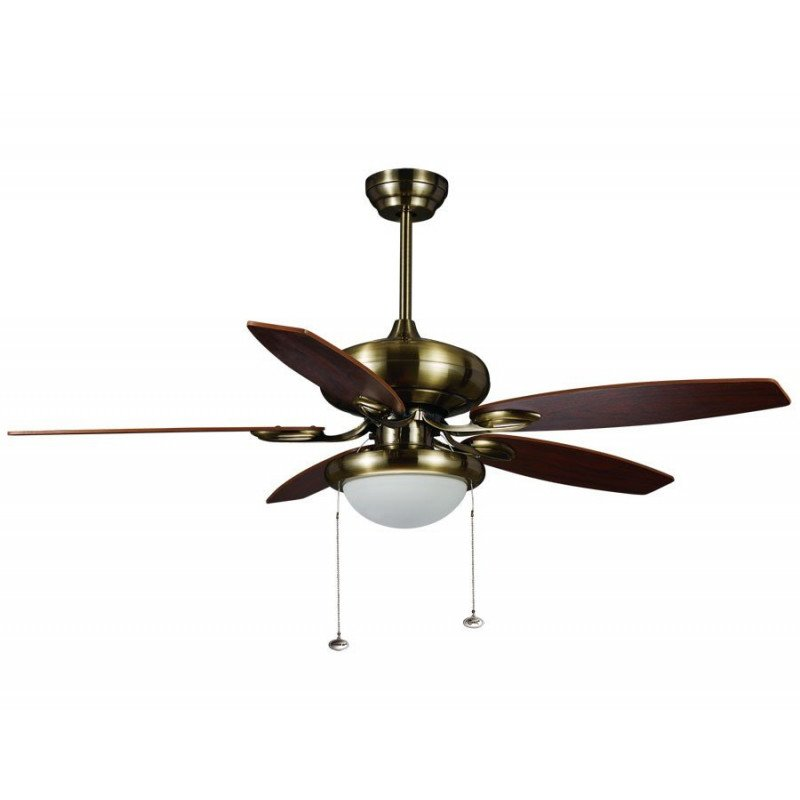 modern ceiling fan brown 122 cm with remote control, lighting and bifacial blades wenge and beech.