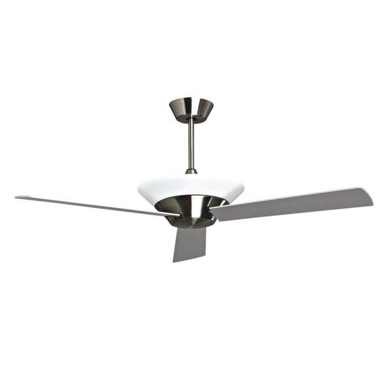 Ventilateur de plafond design klassfan Stratos serie limitée chrome brossé avec lampe, télécommande