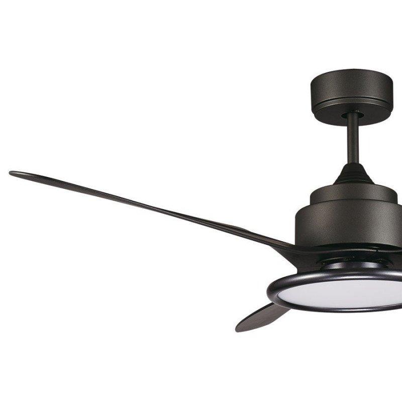 Ventilateur de plafond design noir avec led, telecommande LBA HOME Prometeo