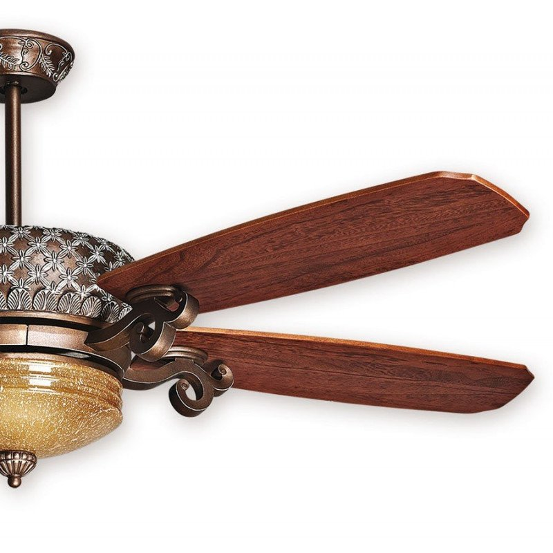 Ceiling Fan, St. Pepeo RB, Aged Bronze Blades Cherry / Walnut, A