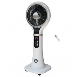 40 cm oscillating mist fan with remote control, ideal for open environments