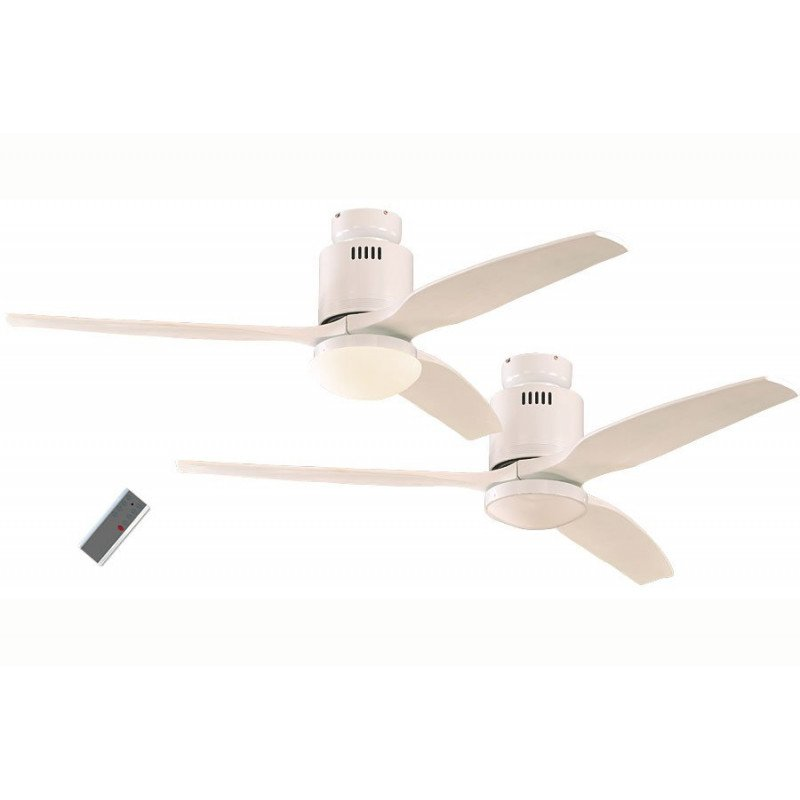 Ceiling Fan, DC 132 cm. modern, double white lacquer, white lacquered wood bladesCASAFAN AERODYNAMIX