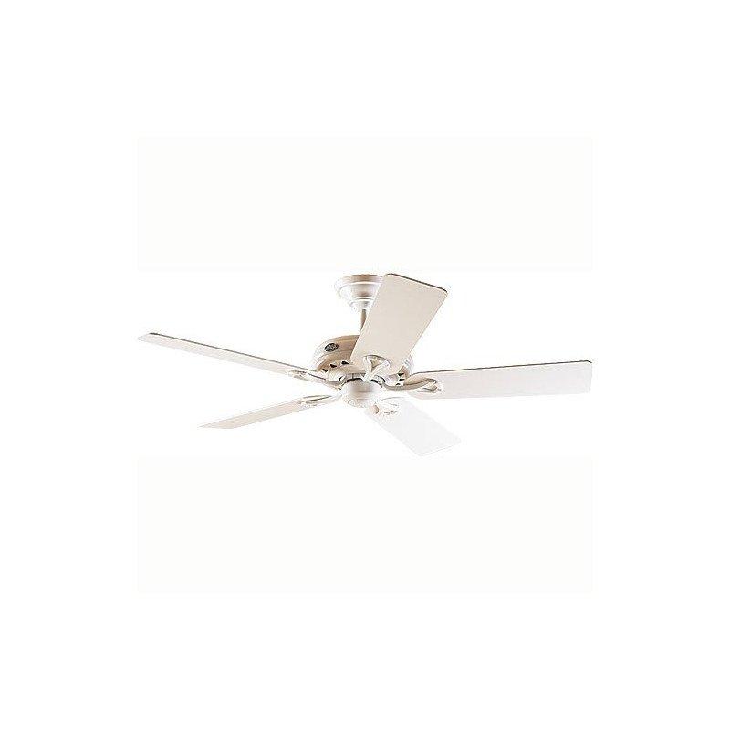 Ventilateur de plafond Savoy Hunter blanc et pales blanches, silencieux, 132cm