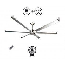 Very large size modern aluminum destratifier ceiling fan DC 203 Cm KlassFan Bigcool eco 203