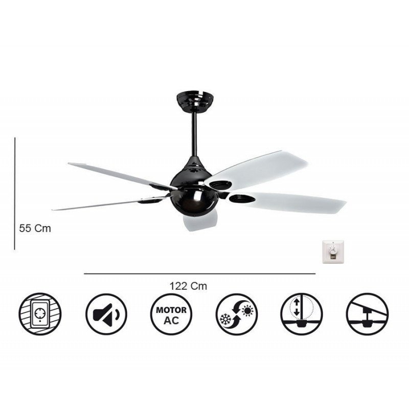 Retro de KlassFan une série limitée ventilateurs de plafond AC design, plus compact et puissant