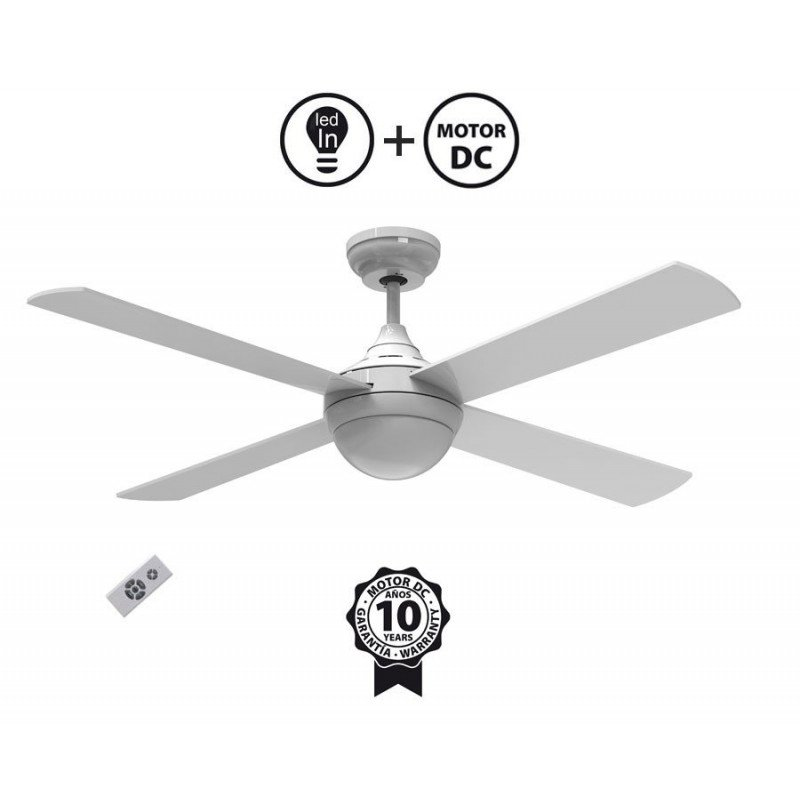 Riaica by KlassFan limited DC ceiling fans designer series, more compact, ultra powerful, with LED lighting system