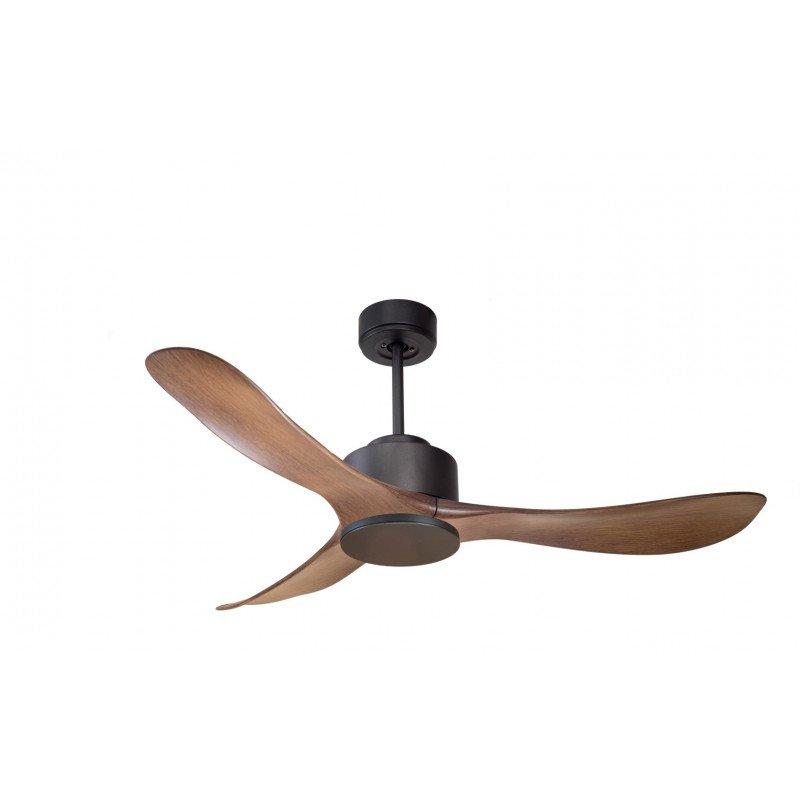 Modulo de KlassFan - Ventilateur DC de plafond sans Lumière gris basalte et bois idéal pour 25 à 40 m² KL_DC1_P4Wo