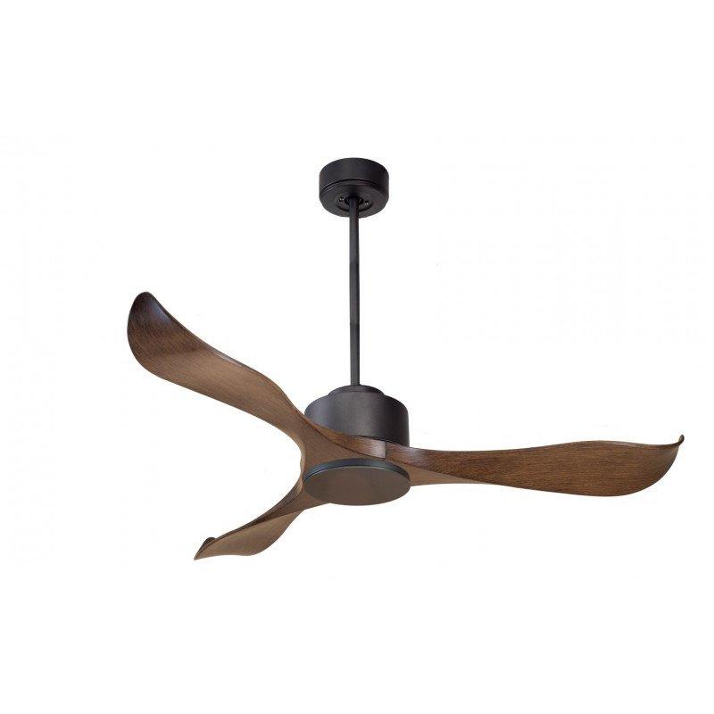 Modulo de KlassFan - Ventilateur DC de plafond sans Lumière gris basalte et bois idéal pour 25 à 40 m² KL_DC1_P2Wo