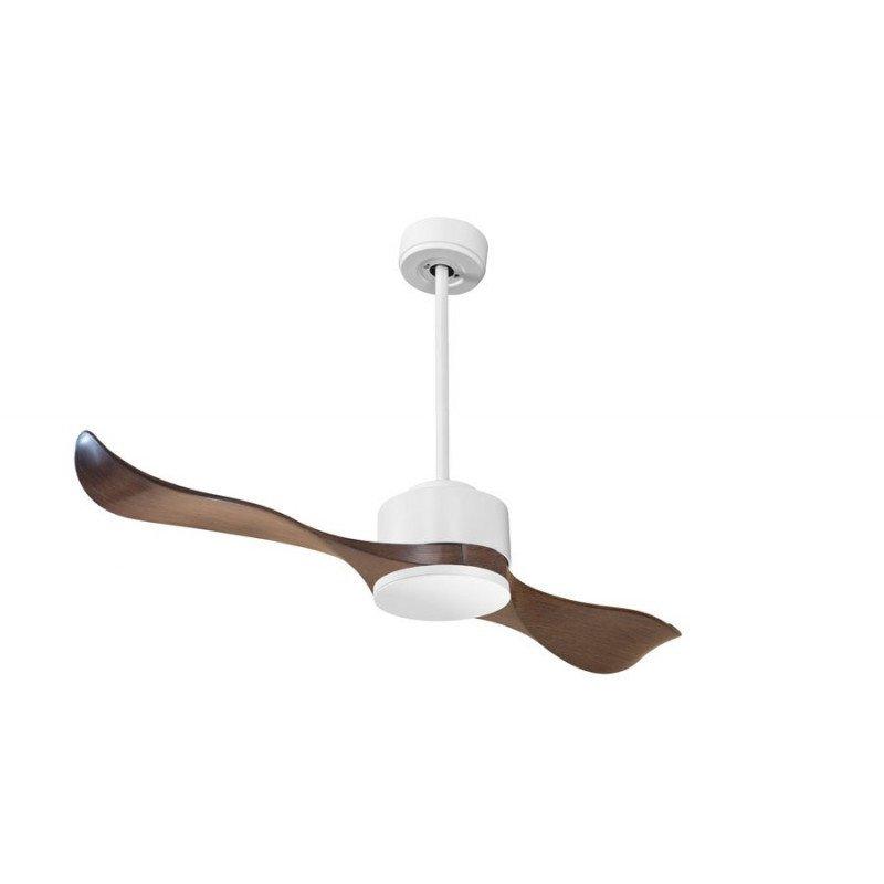 Modulo de KlassFan - Ventilateur DC de plafond sans Lumière Blanc laqué et bois idéal pour 25 à 40 m² KL_DC4_P2Wo
