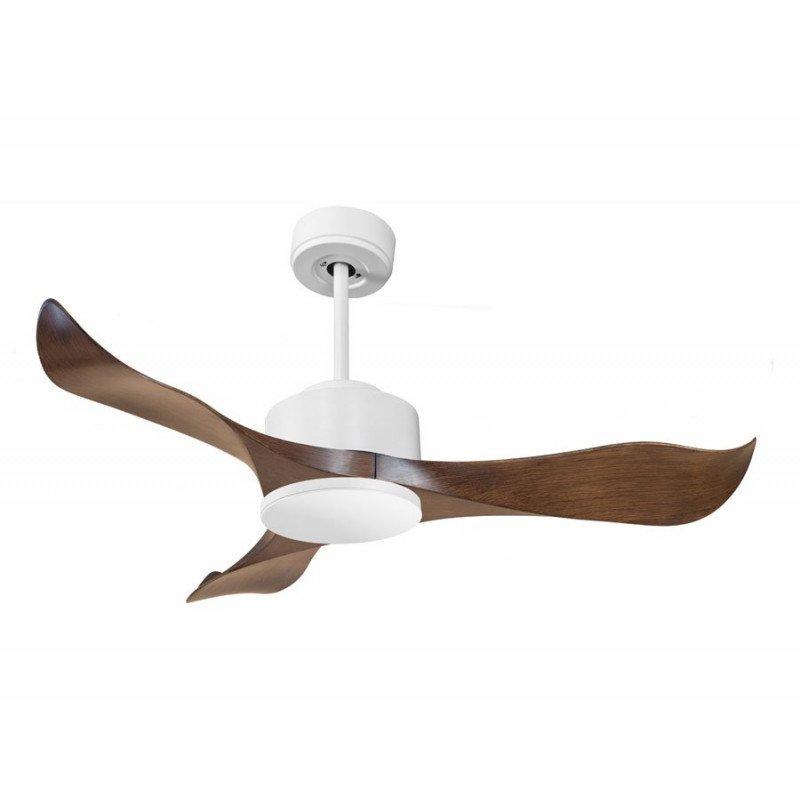 Modulo de KlassFan - Ventilateur DC de plafond sans Lumière blanc et bois idéal pour 20 à 30 m² KL_DC4_P1Wo
