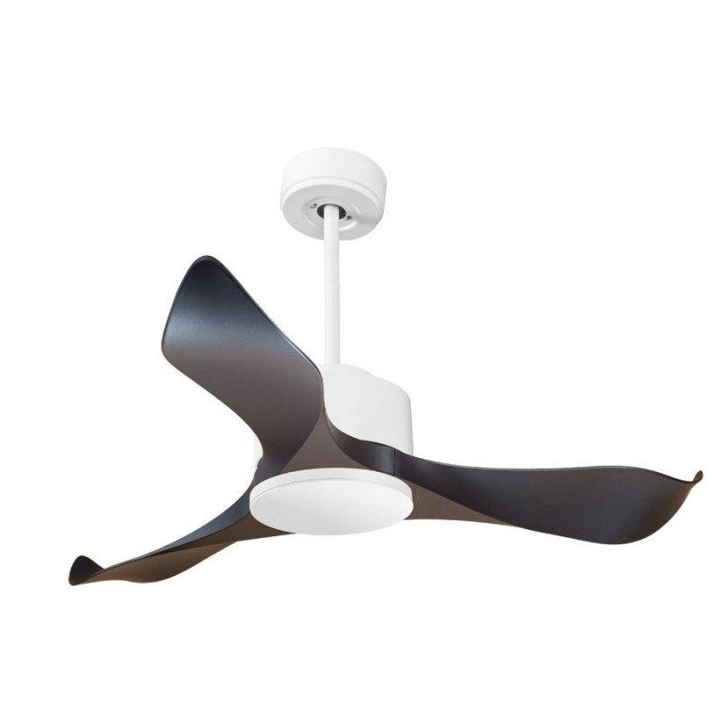Modulo de KlassFan - Ventilateur DC de plafond blanc et noir sans Lumière idéal pour 20 à 30 m² KL_DC4_P1Bk