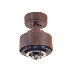 Short KlassFan DC Motor, Wood/Brown