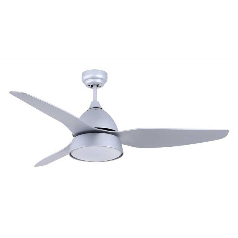 Modern ceiling fan with light and remote control white body nickel ceiling fan 132 cmsilver gray with powerful lighting and remote control aloadofball Images