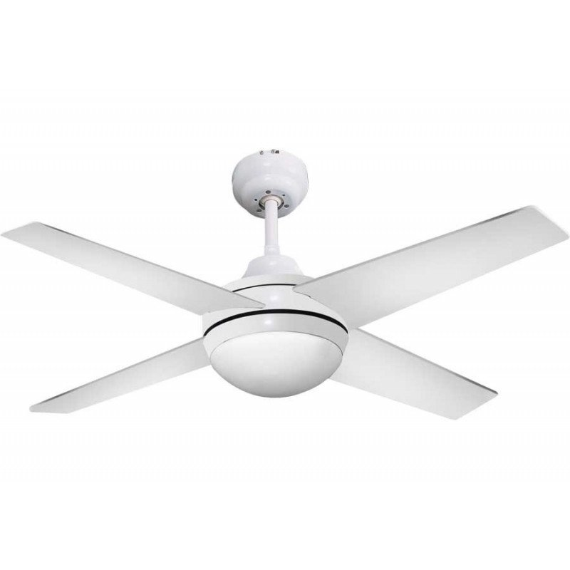 Elysablanco, ceiling fan 112 Cm white, supplied with Led lamp and remote control