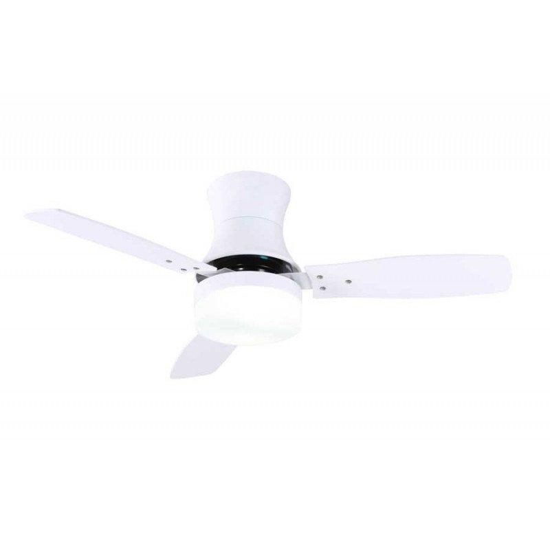 Ventilateur de plafond moderne 107 cm blanc avec pales bi colore, lampe TONSoY 33384