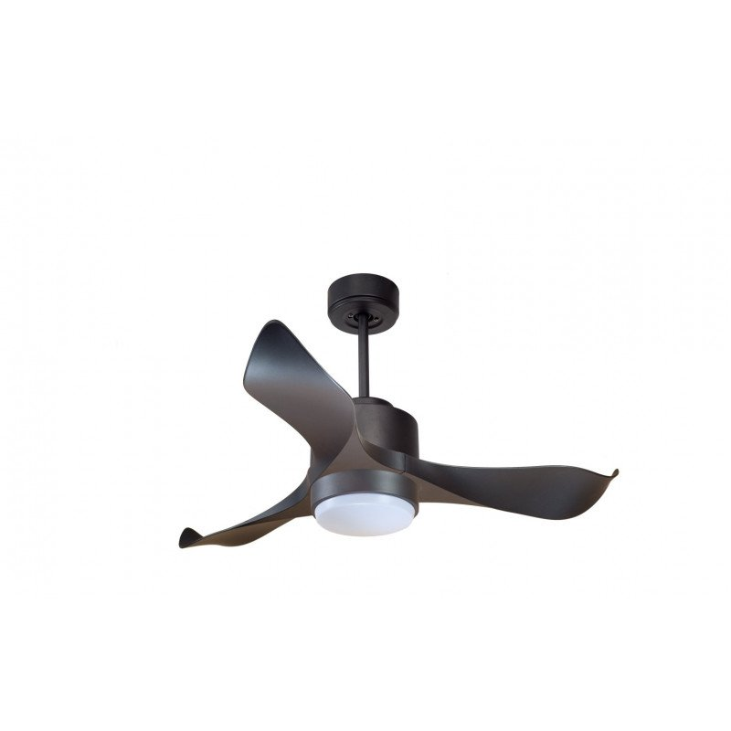 Klfan Modulo Dc Ceiling Fan White And Black Without Light Ideal For 20 To 30