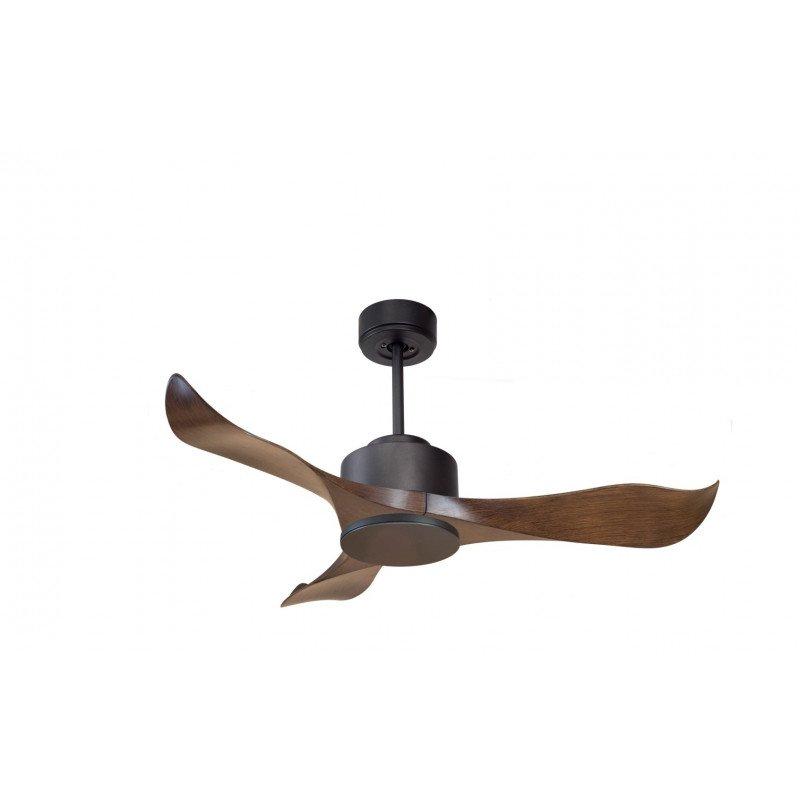 Modulo de KlassFan -déstratificateur d'air, sans Lumière gris basalte et bois idéal pour 20 à 30 m² KL_DC1_P1Wo