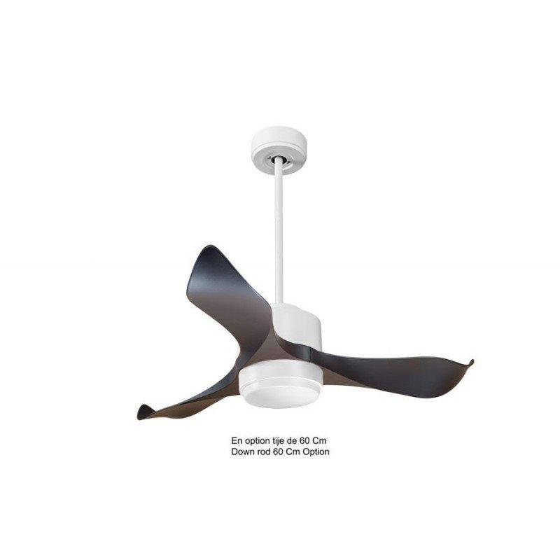 Modulo de KlassFan - déstratificateur d'air avec Lumière gris basalte et bois idéal pour 20 à 30 m² KL_DC1_P1Wo