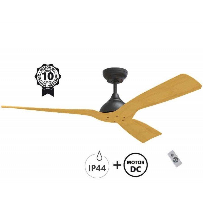 Ventilateur de plafond moteur DC, 132 Cm IP44 pour exterieur, Waterwind de KlassFan
