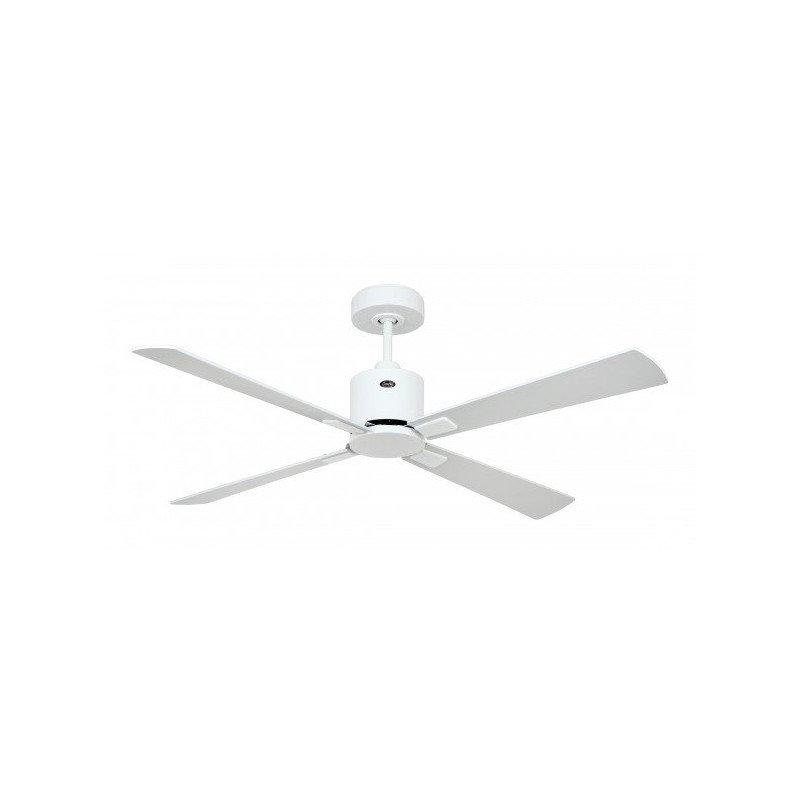 Ventilateur de plafond DC, moderne132 Cm laqué blanc pales laquées blanches, grises, télécommande, CASAFAN Eco Neo II WE