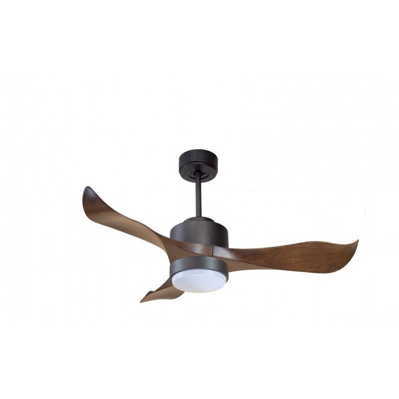 Modulo de KlassFan - déstratificateur d'air avec Lumière gris basalte et bois idéal pour 20 à 30 m² KL_DC4_P1Wo