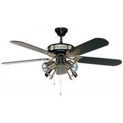Ceiling Fan, Black magic, classic 132cm, black and gold, black blades, lamp, CASAFAN