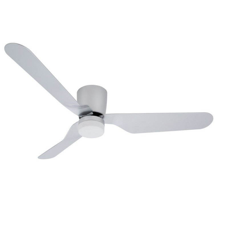 Klassfan LowProfile Ventilateur de plafond moderne 132 cm plafond bas DC et point lumineux led