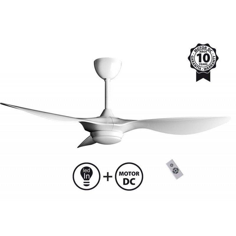 Ventilateur de plafond DC serie limité design blanc avec lumiere, telecommande Klassfan Helix