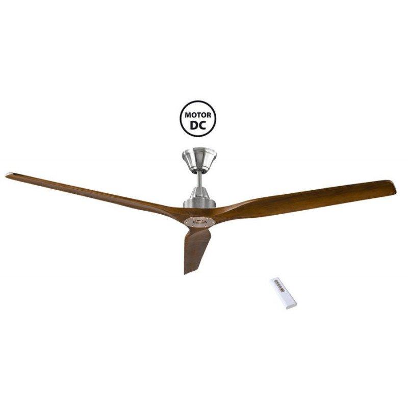 Soft de KlassFan un ventilateurs de plafond DC design avec pales bois grande taile