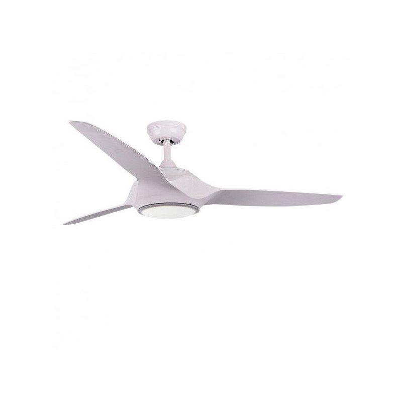 Ventilateur de plafond DC moderne, 132 cm. lampe LED blanche télécommande IR,