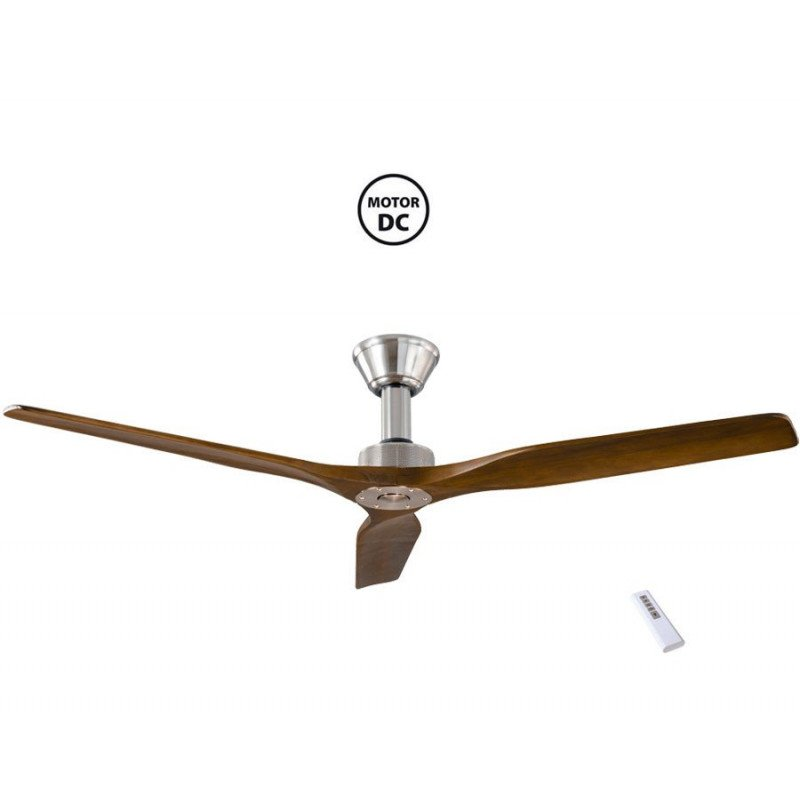 Softy de KlassFan un ventilateur de plafond DC 152 Cm design, pales noyer clair ultra silencieux.