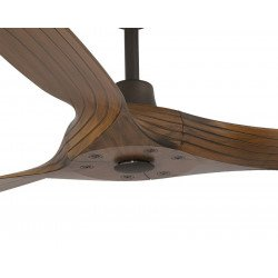 ceiling fan design 180 Cm. blades walnut, chrome Casafan Genuino