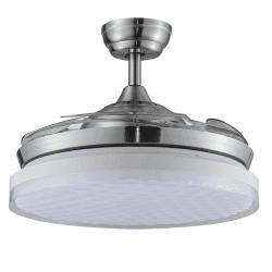 Eco Fiore 142 Cm ventilateur de plafond Design blanc avec luminaire Led et télécommande