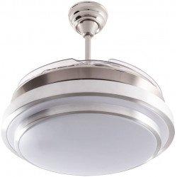 SHadow CLassic, un point lumineux avec des pales escamotable, un ventilateur de plafond discret et puissant.