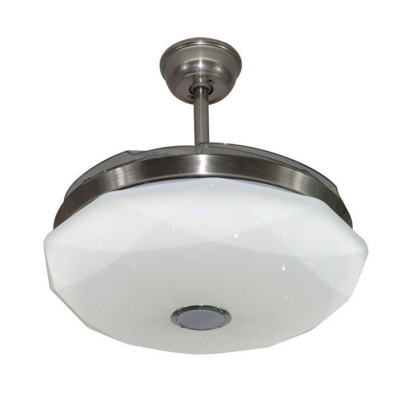 SHadow, un point lumineux avec des pales escamotable, un ventilateur de plafond discret et puissant.