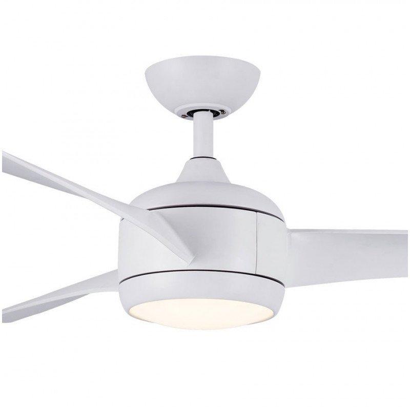 Ventilateur de plafond DC Design 147 cm blanc avec lumière led 3 tons et télécommande Koala LBA HOME